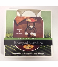 Beanpod Candles Unscented Tea Lights 9-Pack