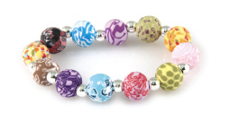 DISCONTINUED Festival Chunky Silver Ball Bracelet