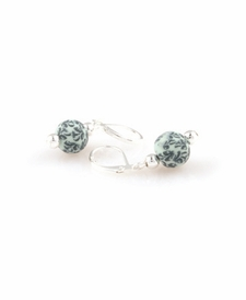 CLOSEOUT - Green Envy Classic Silver Ball Earring