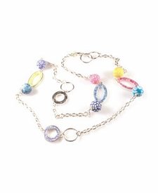 CLOSEOUT - Jumble Hoop Chain Necklace