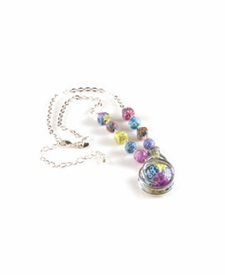 CLOSEOUT - Remember Me Silver Link Swirl Necklace
