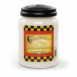 Coconut Island 26 oz. Large Jar Candleberry Candle | Candleberry Candle Closeouts
