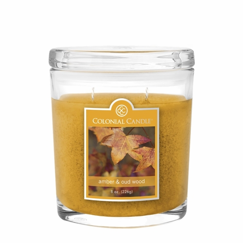 Amber amp Oud Wood 8 oz Oval Jar Colonial Candle