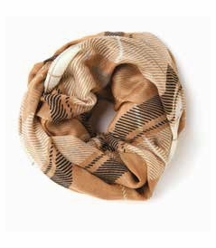 COMING SOON! - Camel Plaid Viscose Scarf by Spartina 449