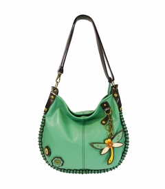 COMING SOON! - Dragonfly Charming Hobo Crossbody with Key Fob - Teal