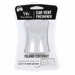 NEW! - Island Coconut WoodWick Car Vent Freshener | Car Vent Fresheners - Woodwick Fall & Winter 2015