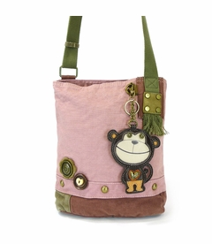 COMING SOON! - Monkey Patch Crossbody with Key Fob - Pink