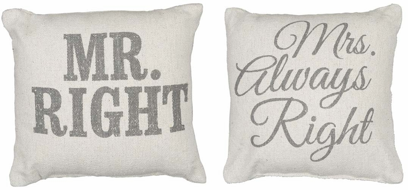 Mr Amp Mrs Right Pillow Set Primitives By Kathy