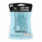 NEW! - Paradise Blue WoodWick Car Vent Freshener | Car Vent Fresheners - Woodwick Fall & Winter 2015