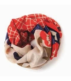 COMING SOON! - Peony Lattice Heritage Scarf by Spartina 449