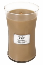 Vintage Leather WoodWick Candle 22 oz. | Woodwick Candles 22 oz.