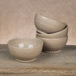 6in Linen Salad Bowl - Set of 4 - GG Collection