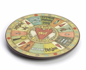 DISCONTINUED Count Your Blessings Lazy Susan