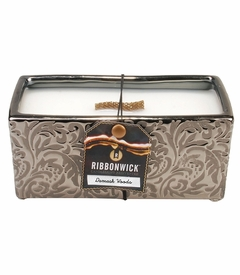 Damask Woods Rectangle RibbonWick Candle