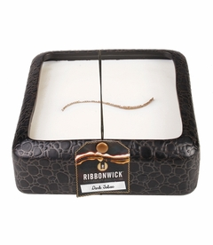 Dark Tabac Large Square RibbonWick Candle