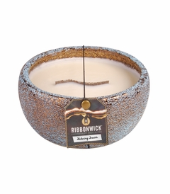 Flickering Fireside - Medium Round RibbonWick Candle
