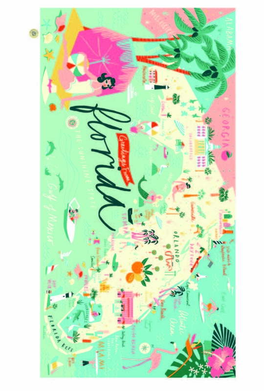 Florida Beach Towel Oh So Witty By Spartina 449