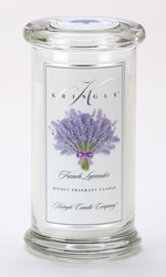 French Lavender Large Apothecary Jar Kringle Candle | Large Apothecary Jar Kringle Candles