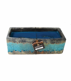 Greenhouse RibbonWick Large Teal Stone Candle