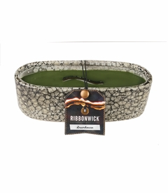 Greenhouse RibbonWick Medium Oval Pebble Stone Candle