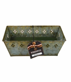 Greenhouse RibbonWick Verdegris Large Rectangle Tin Candle