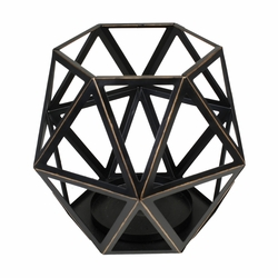 Large Geometric Candle Holder by Virginia Gift Brands | WoodWick Accessories