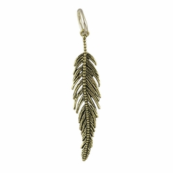Light As A Feather Pendant (Brass/Sterling) by Waxing Poetic