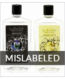 32oz. La Tee Da Fragrance Oil Mislabeled as 16oz. - ONLY $8.95!