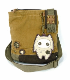 CLOSEOUT - Alien Baby Patch Crossbody Bag - Brown