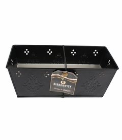NEW! - Amber & Firelight Black Tin Premium RibbonWick Candle