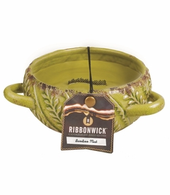 NEW! - ~Bamboo Mist Large Round Premium RibbonWick Candle