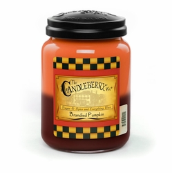 Brandied Pumpkin 26 oz. Large Jar Candleberry Candle | Candleberry Candle Closeouts