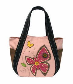 NEW! - Butterfly Carryall Zip Tote - Pink
