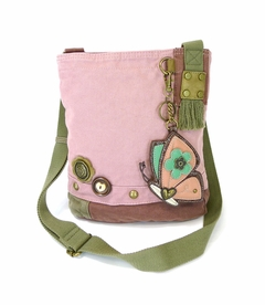 NEW! - Butterfly Patch Crossbody with Coin Purse - Pink