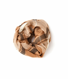Camel Plaid Viscose Scarf by Spartina 449