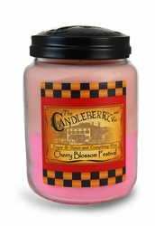 Cherry Blossom Festival 26 oz. Large Jar Candleberry Candle   Home Fragrance Closeouts