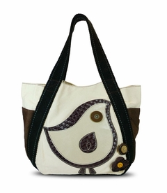 CLOSEOUT - Chichick Bird Carryall Tote - White