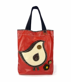 ChiChik Bird Everyday Tote - Leather (Orange)