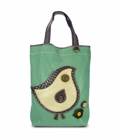 ChiChik Bird Everyday Tote - Leather (Teal)