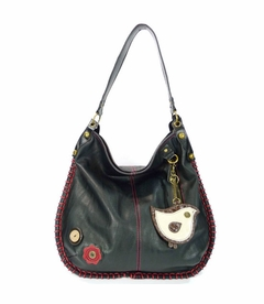 ChiChik Bird Hobo Handbag - Black