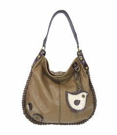CLOSEOUT - ChiChik Bird Hobo Handbag - Brown