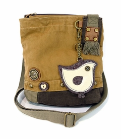 ChiChik Bird Patch Crossbody Bag (Brown)