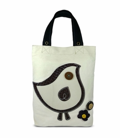 ChiChik Bird Simple Tote (White)