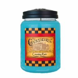 Country Rain 26 oz. Large Jar Candleberry Candle | Candleberry Candle Closeouts