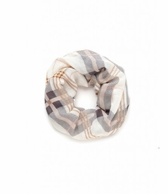 NEW! - Cream Plaid Whitaker Infinity Scarf by Spartina 449