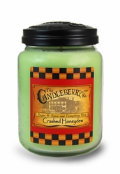 Crushed Honeydew 26 oz. Large Jar Candleberry Candle   Home Fragrance Closeouts
