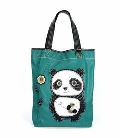 DaDa Panda Everyday Tote - Leather (Teal)
