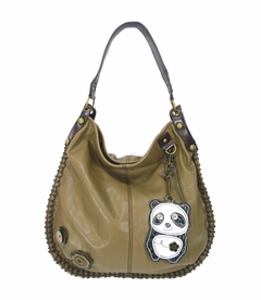 CLOSEOUT - DaDa Panda Hobo Handbag - Brown