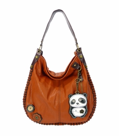 CLOSEOUT - DaDa Panda Hobo Handbag - Orange (Special Order)