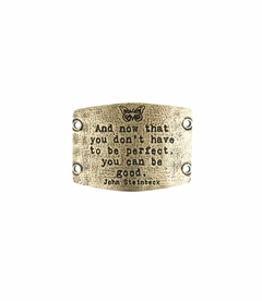 NEW! - Don't Have To Be Perfect - Large Brass Sentiment - Lenny & Eva